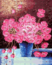 2014 new pictures new design beautiful flowers diy abstract oil painting by numbers