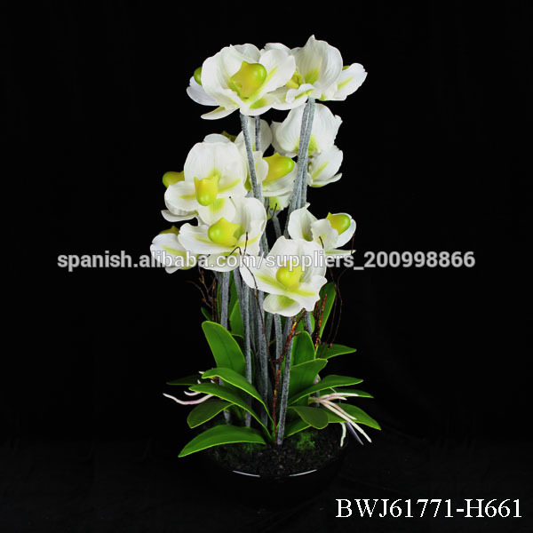 Orqu deas artificiales maceta mayor arreglos florales for Orquideas artificiales