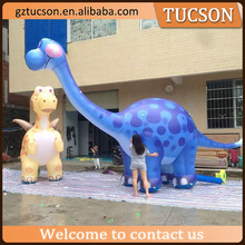 Inflatable blue dinosaur model/ dragon cartoon model for show