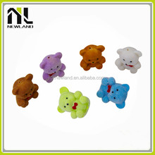 2014 Latest toys plastic flocked bear animals for crafts