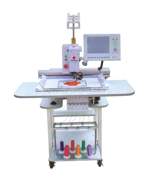Single head family use chenille embroidery machine