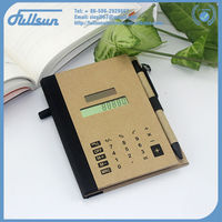 FS-336P solar power 8 digits notebook calculator with pen