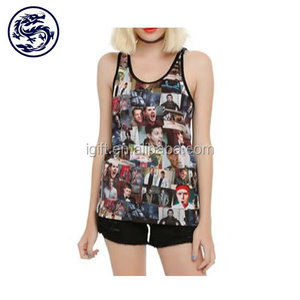 Sublimation Print Custom Sexy Tank Top Woman