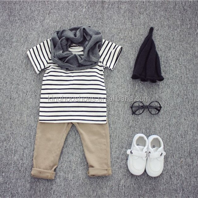 Free shipping striped style baby T-shirt two colors