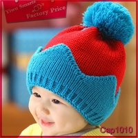 Most fashionable colorful bucket hat,European Low cost knitted baby winter white cotton bucket hat
