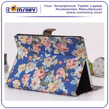 Folio Colorful Floral Print stand Protective Case Cover for iPad Air