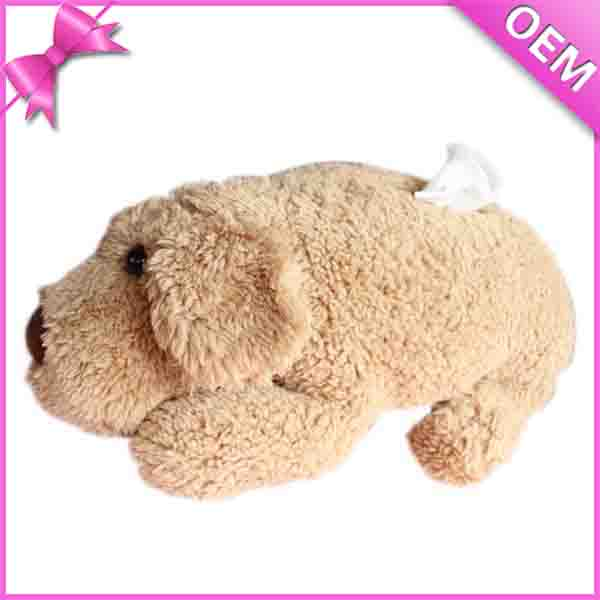 Cute Home Decorative Product Soft Plush Animal Dog Toy Tissue box