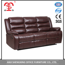 Modern home furniture comfortable leather manual recliner sofa