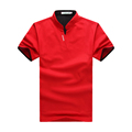 Summer New Arrival Short Sleeve Shirt Men Fashion Brand Multi Colors Stand Collar Shirts Cotton Casual Slim Fit Tshirts