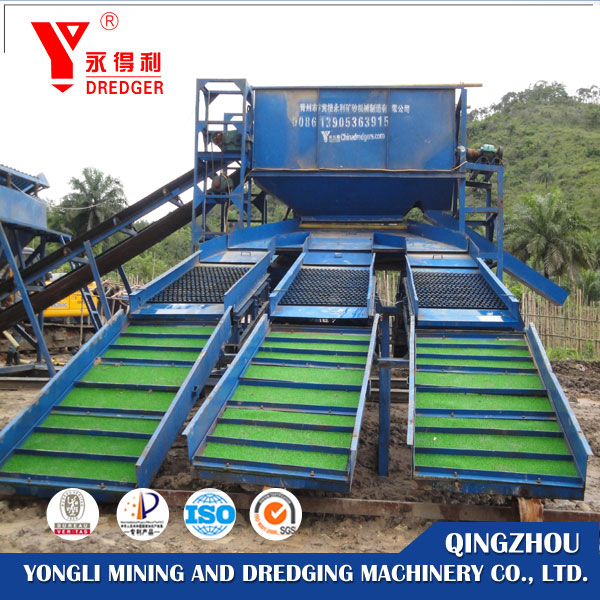 River sand mini gold mining dredge washing plant for sale