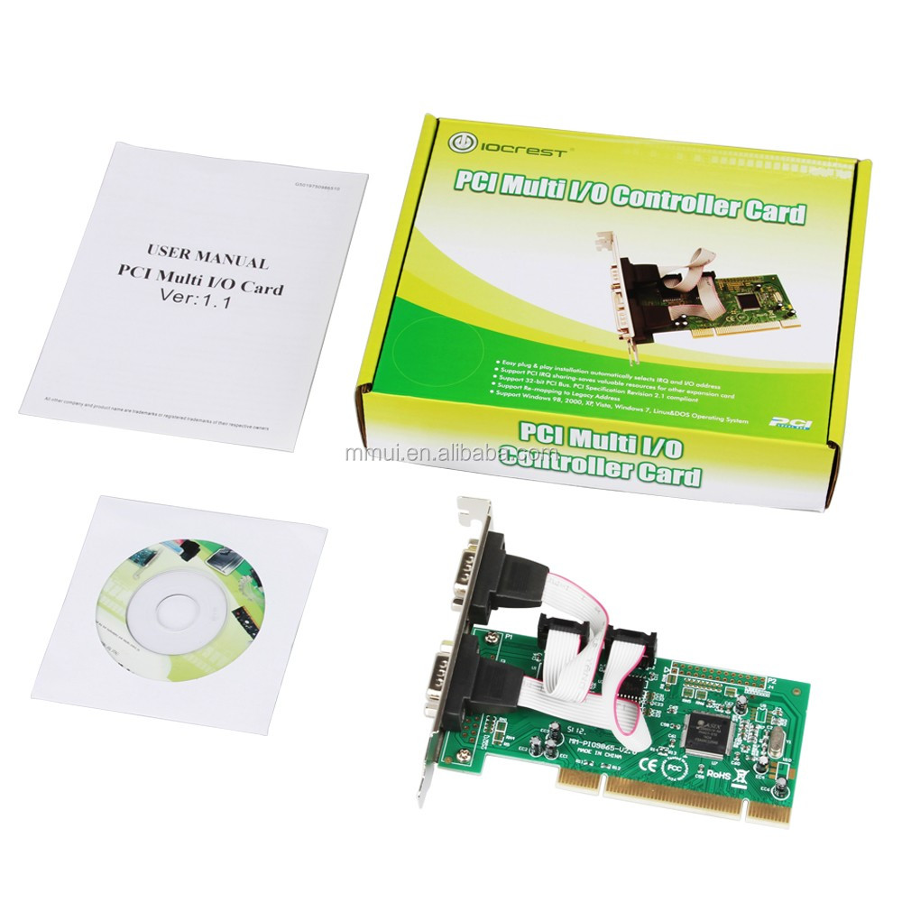 2 Port Low Profile 9 Pin Serial RS232 PCI Card Adapter