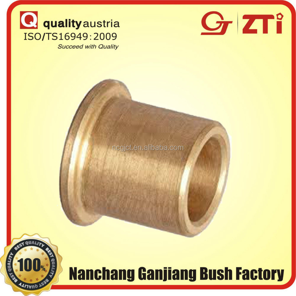 precision sintered flanging wrapped copper oilite bush