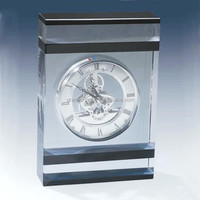 Kechnical table clock for sale skeleton mechanical clock