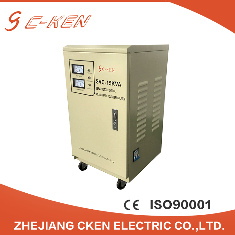 China Suppliers SVC 15KVA Servo Motor Type Single Phase AC Voltage Regulator 15000 Watt Automatic Voltage Stabilizer