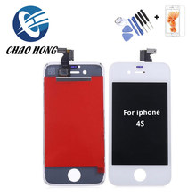 Free tempered glass + tools factory price lcd touch screen for iphone 4s display
