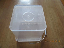 5 liter plastic square bucket pail food grade 5L bucket for packing Paint bucket