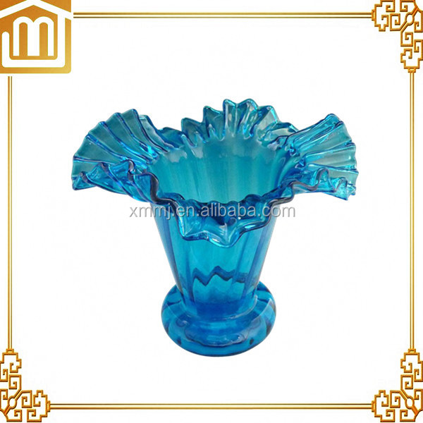 Modern hand blown art blue coloured glass ceiling hanging lamps