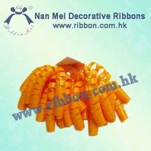 Orange Glossy handmade Curly Bow for party decoration