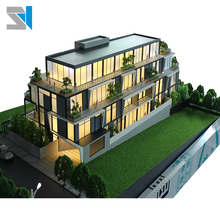 Residential house plan in architectural model/ Real estate 3d building model
