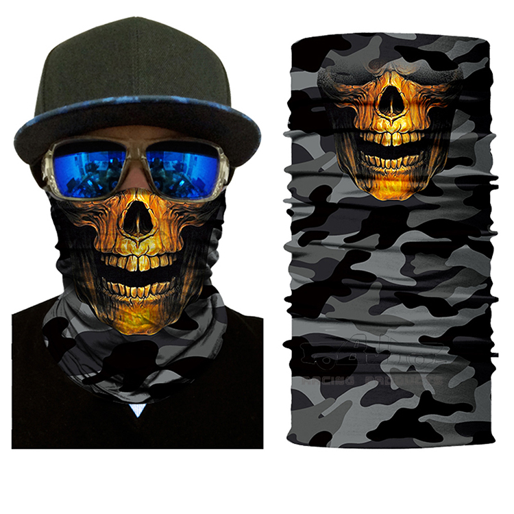 Motorcycle Outdoor Sports Skull mask Shield Multi-Function Bandana Band Cycling Ski Scarf Face Masks Skeleton Headband Headwear