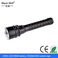 tail cap switch glare aluminium rechargeable super bright diving led flashlight