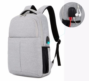 Pure color wholesale school students laptop backpack bag for college men students