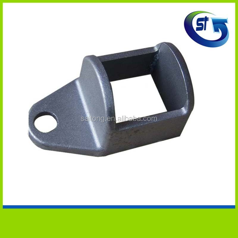 Zinc coated fence tube post base brackets