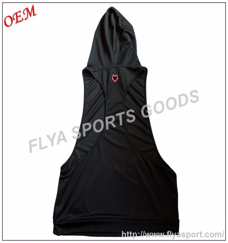 2017 popular men's cotton spandex dry fit stringer tank top sleeveless bodybuilding hoodie
