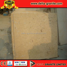 Promotion Natural Polished Yellow limestone for paving,Polished Yellow limestone tiles with factory