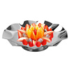 Professional stainless steel hotel catering decorative dry fruit tray round silver fruit bowl stand