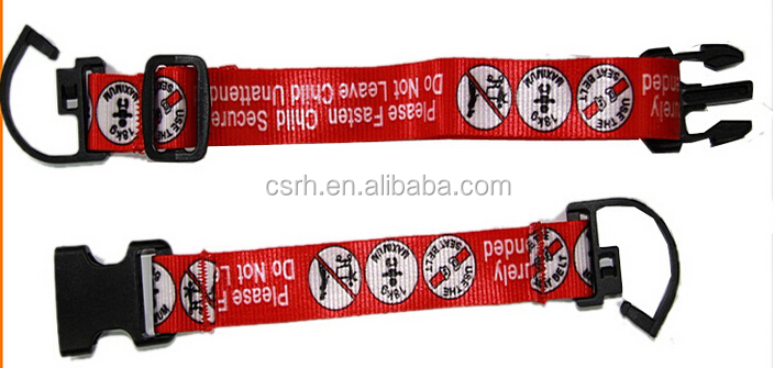 Supermarket Safety Belt for Shopping Cart Baby Seat 110cm*6.7cm red Wear-resisting safety strapRH-SSB01
