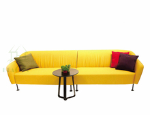 Round shape modern big sectional fabric sofa designs and prices