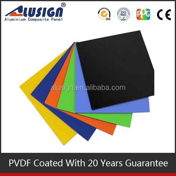 Alusign self-cleaning NANO PVDF coated stone texture aluminum composite panel decorative wall acp plate