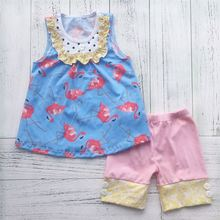New arrival special design bright children outfits suit girls