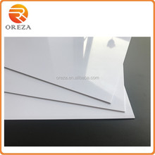 1mm glossy opaque white pvc sheet for outdoor sign board