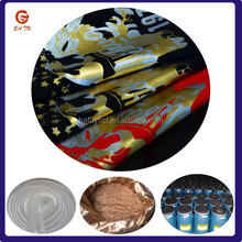 Textile screen printing silver powder glue