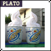 Newly design advertising inflatable ice cream cone for advertising