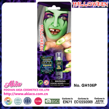 new products 2016 halloween grow in the dark face paint, lipstick will shine in the dark
