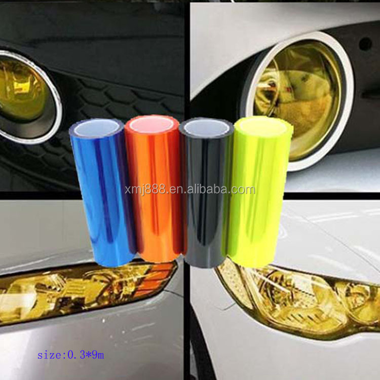0.3*9m Car Headlight Film/Auto Car Light Sticker Vinyl Film