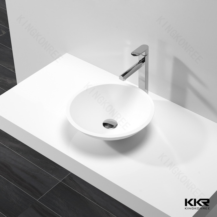 KKR artificial stone round circular decorative wash basin