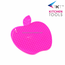 apple shaped silicone pot mat plate pad plate holder pan holder