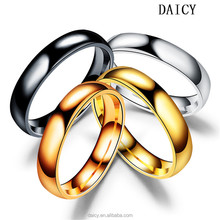 DAICY 2017 cheap wholesale simple design 4mm band stainless steel ring blanks