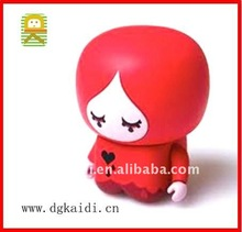 Hot sale high quality OEM 3d plastic cartoon model charming vinyl girl toy