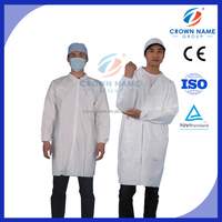 white medical gown hospital coat surgical coat pharmacy lab coat