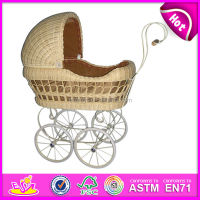 2015 cheap rattan doll pram toy for kids,Girl toy popular wooden doll bed toy for children,hot sale doll cot for baby WJ278228