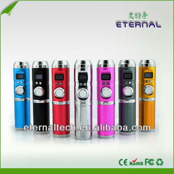 Electronic smoking vapor cigarette colorful body lavatube vw 15 watt mod