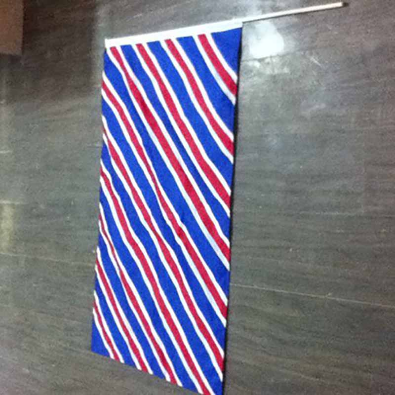 Promotional Silk Screen Printing All Countries Hand held Flag Waving With Plastic Pole