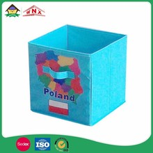 Reusable Accessory Collapsible Fabric Foldable Storage Cube Box