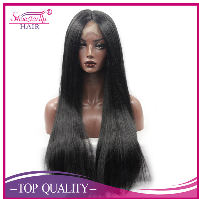 Synthetic full lace hair wigs for black women lace front hair wig long straight synthethic wig