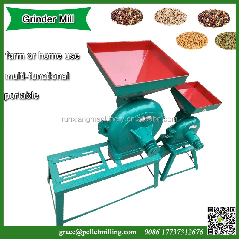 Commercial portable diesel grain maize grinding wheat milling machine